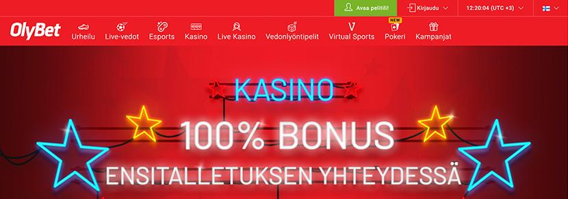 Ekraanipilt Kasiino Olybet Koduleht